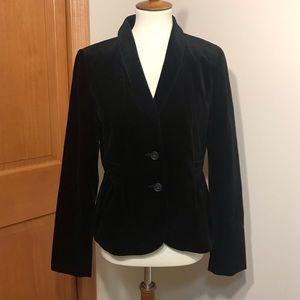 J. Crew Black Velvet Plush Blazer Size 8